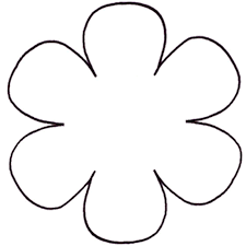 Six Petal Flower Template Colouring Pages Page