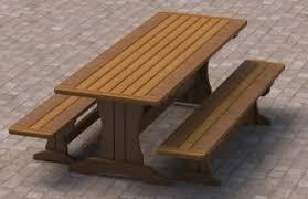 woodwork 8 ft picnic table detached benches plans plans pdf