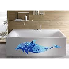 wandsticker4u wandtattoo riesige delfin blau i wandbilder 150x60cm i wand sticker unterwasserwelt fische ozean korallen meer poster i