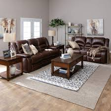 The Hennessy Power Reclining Sofa Set Has A Casual Style