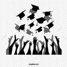 El Negro Tira Sombreros De Graduación Tijeras Estudiante