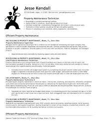 Maintenance Supervisor Sample Resume Objective Statement Building Samples