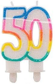 bb10 geburtstagskerze zahl 50 glitterkerze für 50