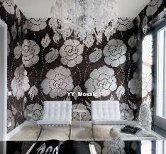 puzzle kunst schwarz weiß glasmosaik fliesen für wand badezimmer wohnzimmer ktv und tv hintergrund decke mode dekor fliesen
