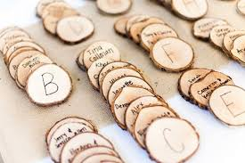 plan de table nature morceau de bois scies j ai dit oui