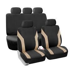 100 Truck Seat Covers BESTFH Beige Black Car 5 Headrests For Sedan SUV