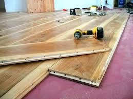 Plywood Flooring On Concrete Gluing Wood Floor To Installing Engineered Hardwood Floors