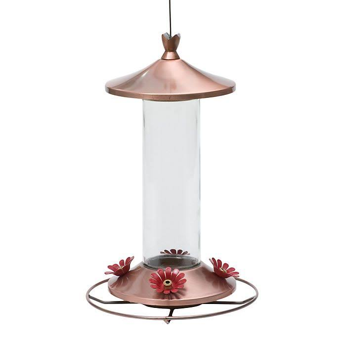 Perky Pet Elegant Copper Glass Hummingbird Feeder - 12oz
