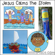Jesus Calms The Storm Bible Lesson And Crafts