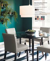 Crate And Barrel Dining Table Chairs by Basque Java Round High Dining Table Impressive Fiore Round Glass