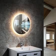 led lichtspiegel badspiegel 2712 mit spiegelheizung warm kaltlichteinstellung rund ø 60 cm