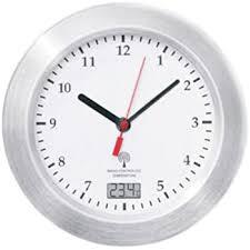 mebus funk wanduhr saugnäpfe thermometer uhr 17 cm funkuhr