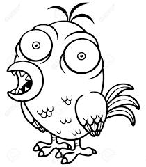 Vector Illustration Of Cartoon Bird