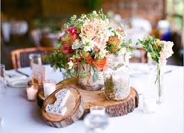 Rustic Themed Wedding Decorations Flower Table Uniqueness Of