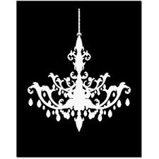 Black And White Chandelier Clipart Gothic Pencil In Color 9