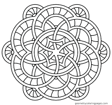 Free Printable Easy Mandala Coloring Pages Mandalas Adults Animal Full Size
