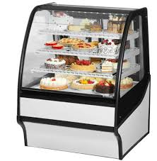 TRUE TDM R 36 GE WHITE CURVED GLASS REFRIGERATED BAKERY DISPLAY