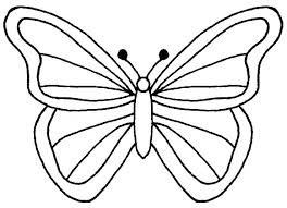 Simple Butterfly Coloring Pages Free Monarch Sheets Outline Fr
