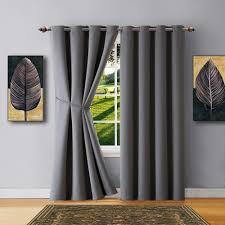 warm home designs grey blackout curtains valance scarves tie