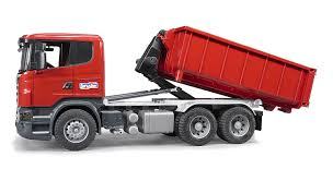 Bruder Scania R-Series Truck With Roll-Off Container   EBay Bruder Mack Granite Tip Up Truck Lazada Malaysia Toys 2751 Man Tga Cstruction And Liebherr Excavator Kavanaghs Bruder Tanker Truck 116 Scale Rc Truck Total Crash Youtube Mack Half Pipe Dump Jadrem Australia Amazoncom With Snow Plow Blade Kids Toy Model Replica Halfpipe Digger Tosyencom 2815 By Fundamentally The Mb Arocs From The Collection Garbage Toyworld