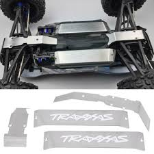 100 Revo Rc Truck 4PCS Metal Chassis Armor Skid Plate Kits For 110 Traxxas E RC