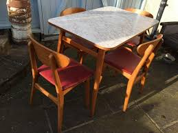 100 Red Formica Table And Chairs VINTAGE RETRO MID CENTURY 1950S DANISH INSPIRED FORMICA TABLE 4