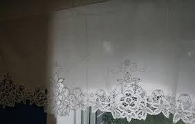 Battenburg Lace Curtains Ecru by Elite Battenburg Lace Window Treatment The Lace And Linens Co