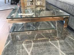couchtisch chrome glas metall tisch verchromt glas metall