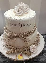 Dianas Take On Rustic Wedding Cakes