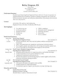 Sample Registered Nurse Resume Operating Room Newly Without Experience Philippines