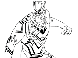 Black Panther Coloring Page Printable 1 Marvel Colouring Pages