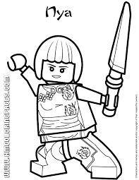 Ninjago Nya Coloring Page