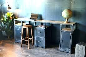 bureau industriel metal bureau style industriel pas cher bureau metal industriel bureau