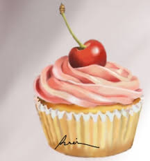 Cupcake by paper pencil art