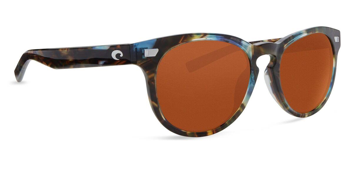 Costa Del Mar Women's Del Mar 580G Polarized Sunglasses - Shiny Ocean Tortoise Frame & Gray Lens