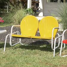 Vintage Metal Chairs Outdoor Retro Glider Lawn Chair Patio ...