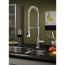 Moen Kiran Pull Down Faucet by Moen Indi Pulldown Kitchen Faucet With Microban And Soap In Spot