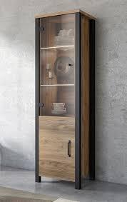 vitrine 56cm appenzeller fichte schwarz standvitrine modern schrank