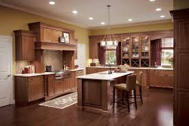 Kitchen Colors With Cherry Cabinets Beige Tile Pattern Ceramis Laminate Flooring White Pendant Lighting Green Cupboard Blue Island