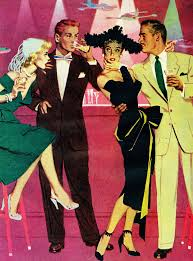 Cocktails 50s Style Retro IllustrationBeauty