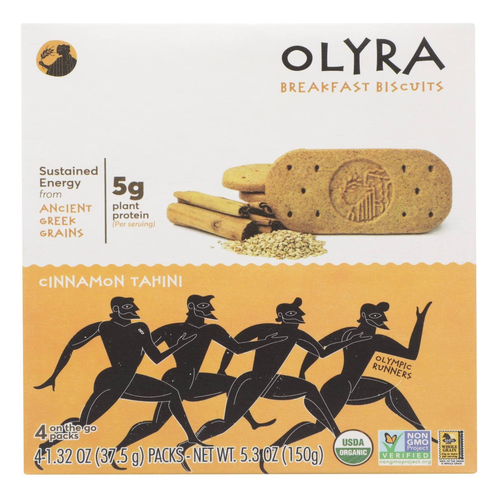 Olyra Breakfast Biscuit - Cinnamon Tahini, 5.3oz