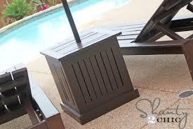 hampton umbrella side tables shanty 2 chic diy patio side table