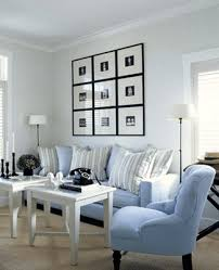 blue and white living room decorating ideas of white and blue