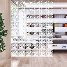 ltop hängende raumteiler 12 stück je 29 cm x 29 cm weiß hängepaneel dekoration für haus hotel büro bar esszimmer