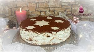 winterliche spekulatius torte no bake rezept mit zimtcreme und kirschen