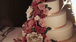 Celebration Wedding Cake Slowmotion Shot