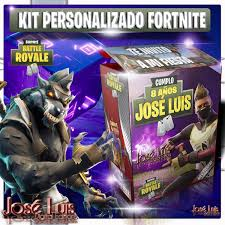 Mega Kit Imprimible Personalizado Datos Editables Fortnite