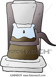 Clip Art Of Cartoon Drip Filter Coffee Maker K34846476