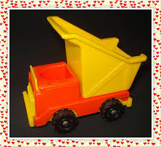 100 Little People Dump Truck 342 FISHER PRICE VINTAGE LITTLE PEOPLE CONSTRUCTION YELLOWORANGE