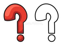 Download Colorful And Black White Question Mark For Coloring Book Stock Vector
